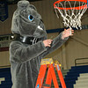 Staff photo by Bryan Helvie<br /> Cutting down the nets: Billy Bulldog got into the action Saturday after the Batesville boys defeated South Ripley in the championship game of the Ripley County basketball tournament.It is the seventh consecutive tournament title for the Bulldogs.