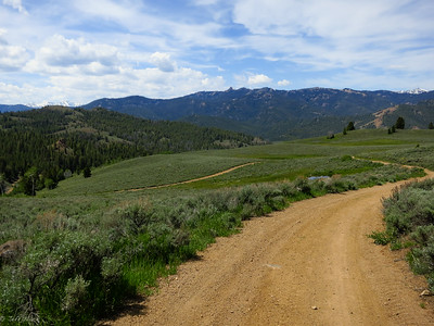 The open road down to Squaw Creek.