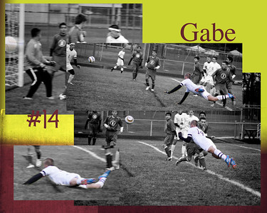 Gabe C Maroon Gold