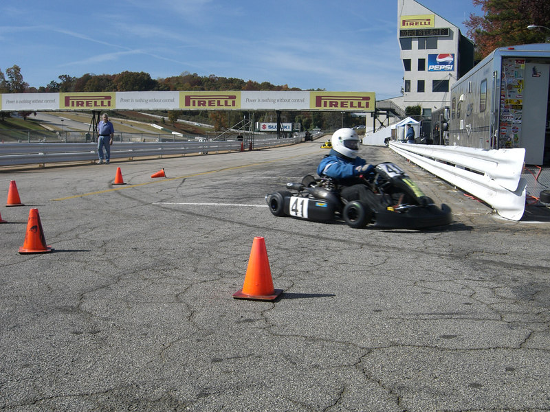 Coming off the track after the race, heading up to the scales and tech.  Road Atlanta November 4-5, 2006