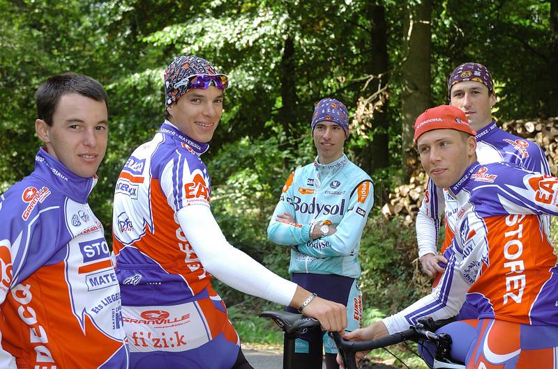 Gilles Devillers, Olivier Pardini, Fabio Polazzi, Jonas Vangenechten et Nicolas Baiolet
