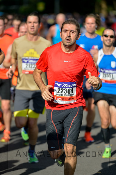 After 5 kilometres in Amsterdam during the TCS Amsterdam Half Marathon on October 16 2016 in the Netherlands.