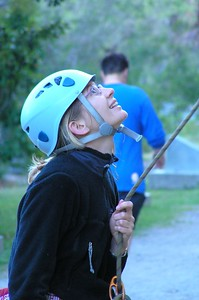 Alice belaying. 15 Sep 05
