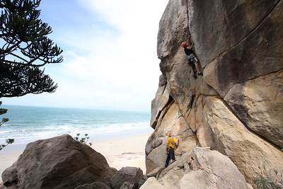Rock climbing at Magnetic Island, Australia. Photo by Trent Williams