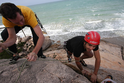 Rock climbing at Magnetic Island, Australia.
