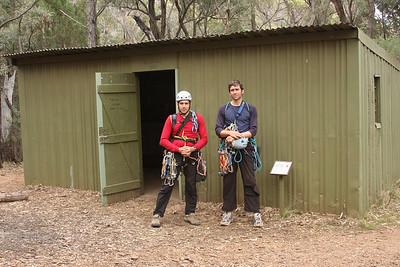Balor hut. Trent and Andys Warrumbungles rockclimbing trip 2009.