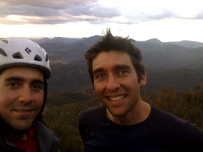 At the top of Flight of the Phoenix. Trent (L) and Andy (R)