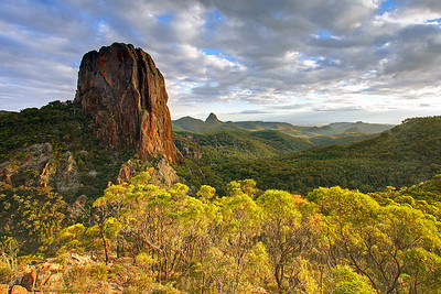 Crater Bluff at sunset, Warrumbungles. Photo by Trent Williams
