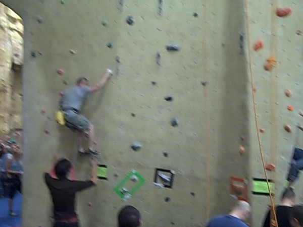 1st Friction Competion at Planet Granite, Belmont, CA, April 10, 2009. Short and shakey video taken with the Flip Mino.
