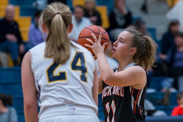 Rockford JV Girls Basketball vs Grand Haven 1.18.18
