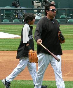 Vinny Castilla and son(?)