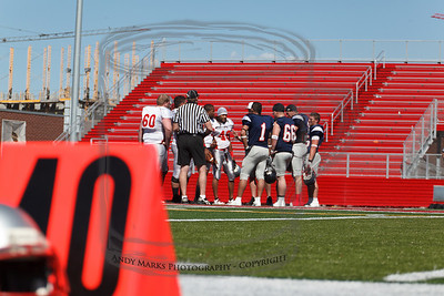 Team captains decide how the game will start. (I took this shot simply to emphasize that I was kneeling damn near on the 40 yard line marker..) Just saying..