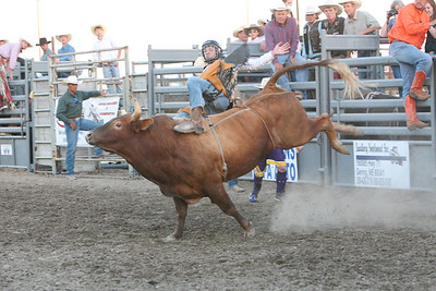 Morgan Johnson of Gordon and a student at WNCC rides in the Bull Extravaganza.