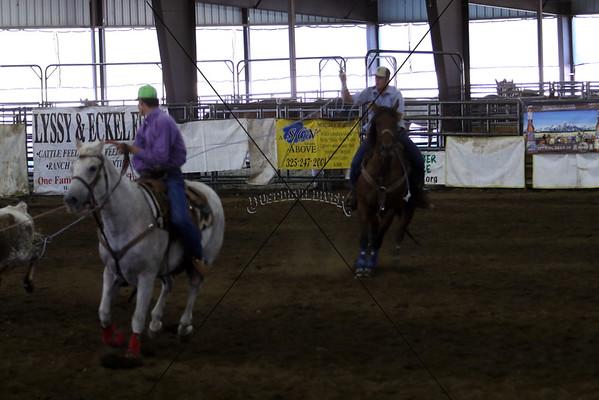 Llano County Team Roping Round 1