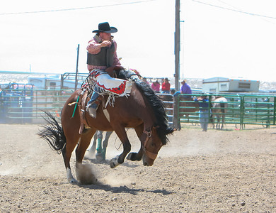 Day one of the Panhandle High School Rodeo, at Scotts Bluff County Fairgrounds in Mitchell, NE. In the Saddle Bronc ride Kimball High School's Nicholas Stull ride for a score of 56 points, putting him in third for the weekend event.