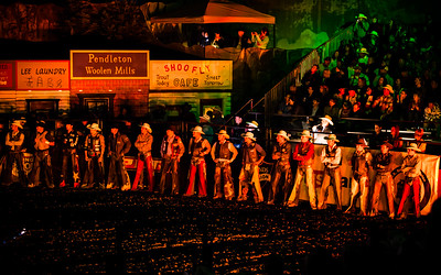 Cowboy Line Up at PBR Sept 2012