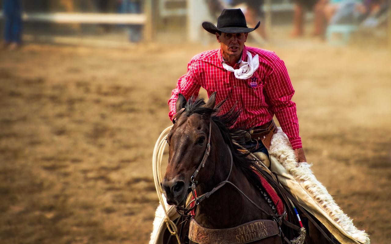 Pendleton Roundup 2012 Rider Retreiving Bucking Horse