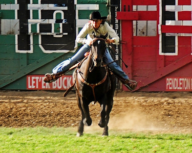 barrel racing right at you