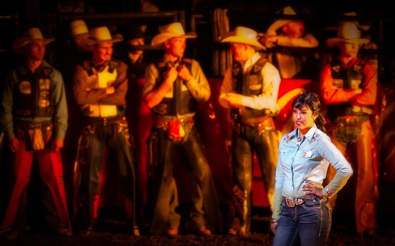 Cowboy Line Up Contrast at PBR Sept 2012