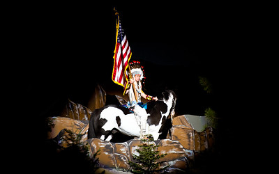 Native American Indian honoring flag at PBR Sept 2012