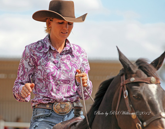 Champion rodeo rider Nichole Fitzpatrick at Yass Rodeo 2012