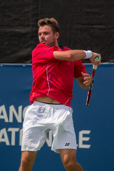 Stanislas Wawrinka, talented Swiss tennis player.  Photos from the second round of the 2013 Rogers Cup Masters 1000 tennis tournament in Montreal