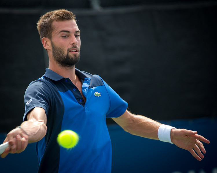 Promising young French tennis player, Benoit Paire.  Photos from the second round of the 2013 Rogers Cup Masters 1000 tennis tournament in Montreal