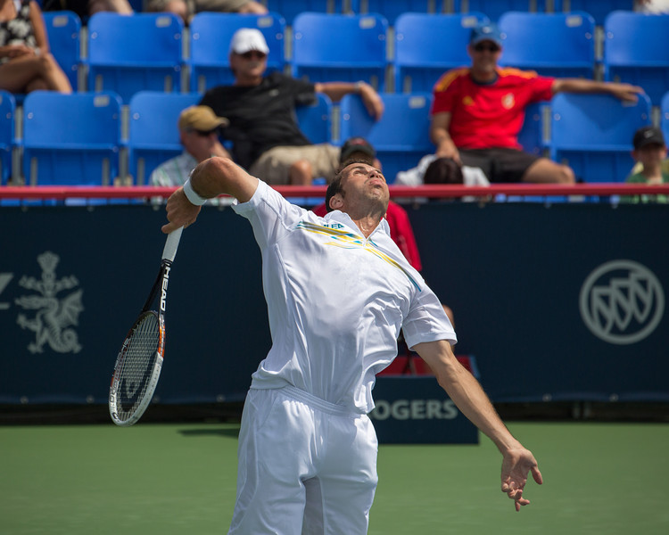 Vetran Czech tennis player, Radek Štěpánek.  Photos from the second round of the 2013 Rogers Cup Masters 1000 tennis tournament in Montreal