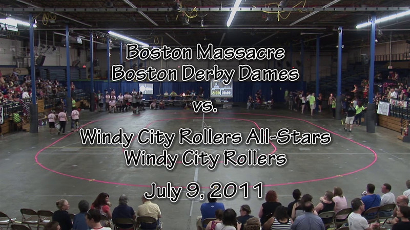 Lineups and Equipment Check<br /> <br /> Referee/Official: 0:20<br /> Windy City Rollers All-Stars: 1:49<br /> Boston Massacre: 3:40<br /> Equipment Check: 6:25