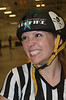 Referee before the CNY Roller Derby Bout in the JFK Civic Arena in Rome, New York.