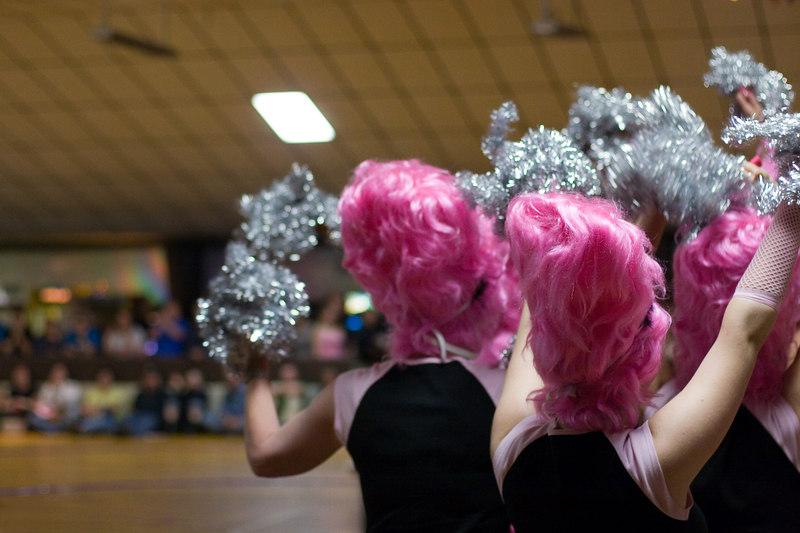 Hampden Charm School Cheerleaders getting their cheer on.