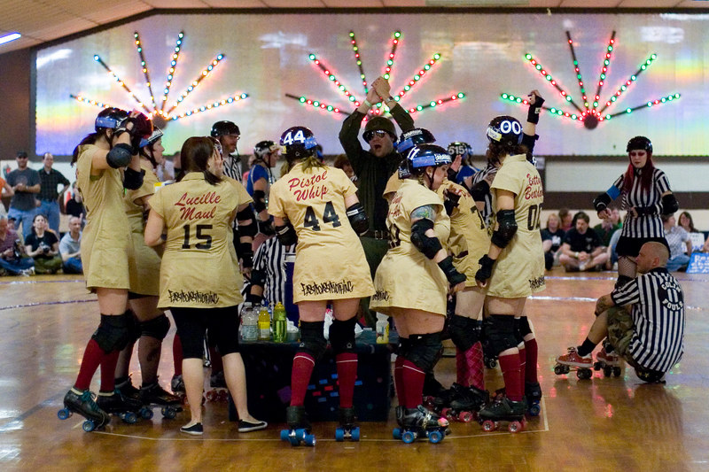 Speed Regime getting final words of encouragement before their first bout.