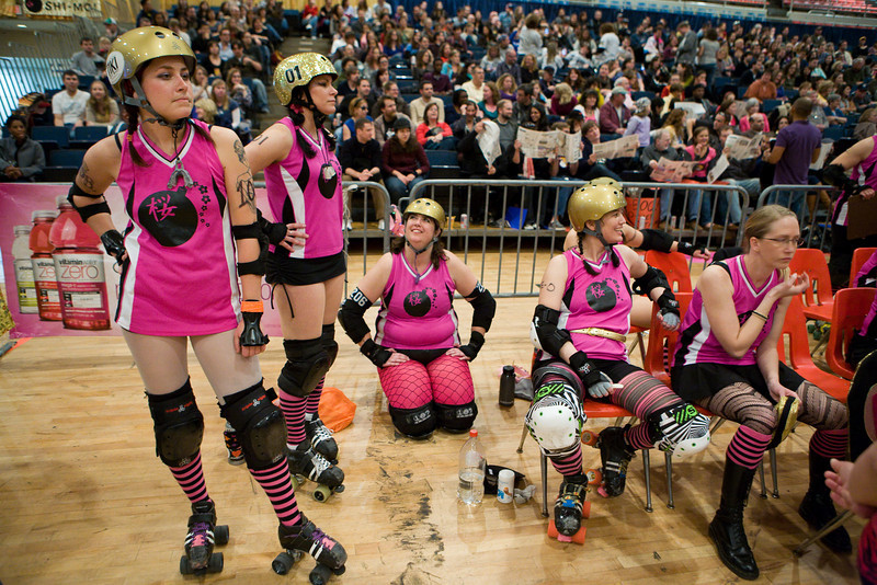 Expo bout between DC Demon Cats and Motley Crew, followed by Cherry Blossom Bombshells vs Scare Force One