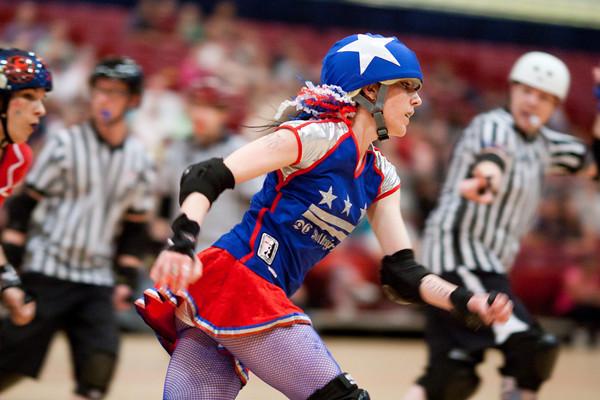Yankee Scandal speeding right along for the DC Rollergirls All-Stars vs. Providence Roller Derby's Rhode Island Riveters - 04/30/2011