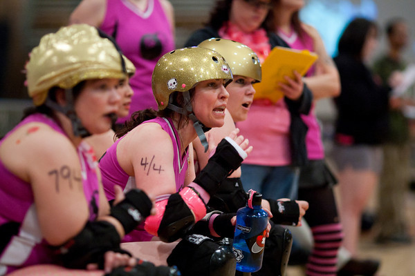 DC Rollergirls All-Stars vs. Providence Roller Derby's Rhode Island Riveters, May Flowers (Cherry Blossom Bombshells) vs. April Showers (Scare Force One and Meat Locker Babes)