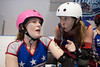 Sooki Slaughterhouse receives words of wisdom from Dr SKabs as the DC Rollergirls All Stars take on Providence All Stars at ECDX 2011