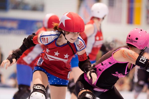 DC Rollergirls All Stars vs Tampa Bay Derby Darlins at ECDX 2011