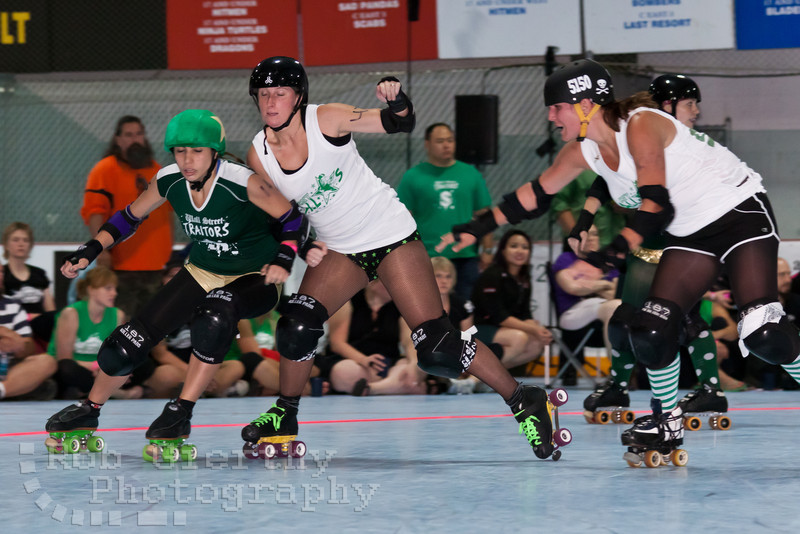 Final of the Empire Skate Showdown between the Wall Street Traitors and Central New York Roller Derby.  The Wall Street Traitors won two bouts against CNYRD to become the champions.