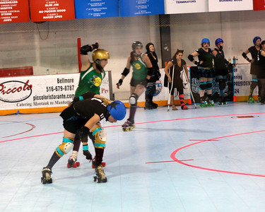 The Long Island Roller Rebels at Skate Safe, Old Bethpage, NY.