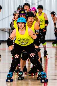 #blitzburghbombers warm up before their home bout vs #ohiovalleyrollergirls  Saturday May 12, 2018 at the @pittsburghindoorsportarena #Pittsburgh @steelcityrollerderby  #sports @wftda #RollerDerby #womenwhorock #womensports #yinzyinzyinz  #strongwomen #steelcityrollerderby