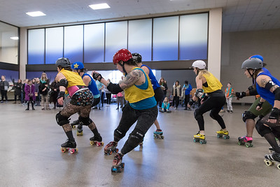 Girl Scouts Learning Derby from the Minnesota RollerGirls