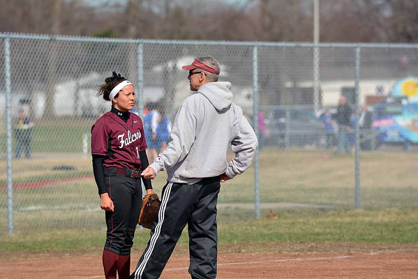 MD Romeo visits Henry Ford-softball(RAY SKOWRONEK/THE MACOMB DAILY)