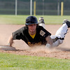 "Crystal Landscape Supplies Drew Meintzer slides into third base after hitting a triple during a baseball game against Legion Post 70 on Wednesday, June 13, at Roosevelt High School in Johnstown. For more photos of the game go to  <a href=""http://www.dailycamera.com"">http://www.dailycamera.com</a><br /> Jeremy Papasso/ Boulder Daily Camera"