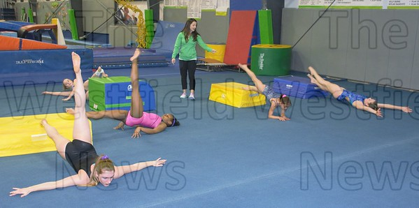 Roots Gymnastics preparing for State Competition 3/15/16