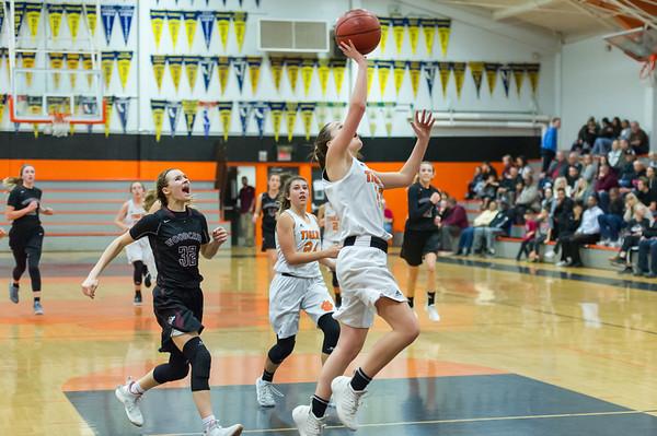 Roseville High School JV Girls Basketball vs Woodcreek 12-18-18