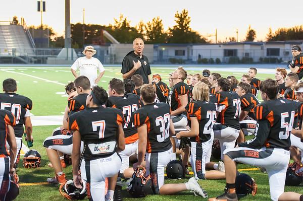 Roseville High School Varsity Football Scrimmage vs Center & Woodland 8-16-19