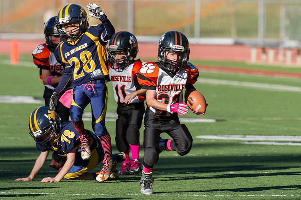 Roseville Jr Tigers Mighty Mite vs Nevada Union 10-10-15