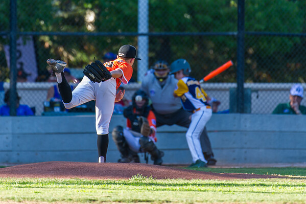 Roseville West Little League Major All Stars vs El Dorado Hills 7-11-16
