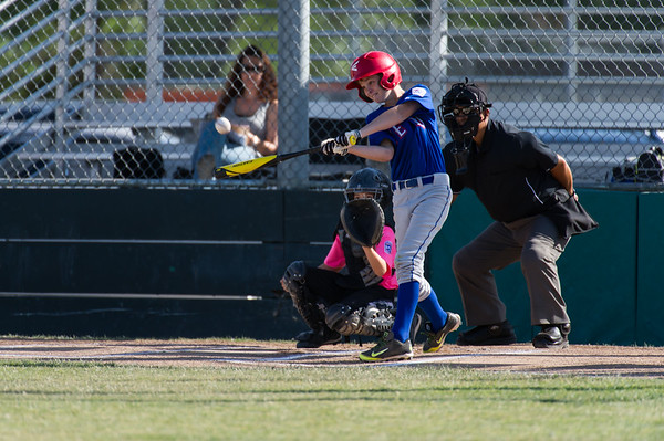 Roseville West Little League Rangers vs A's 5-6-15