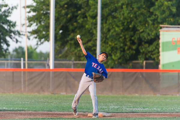 Roseville West Little League Major Rangers vs Giants 5-4-15